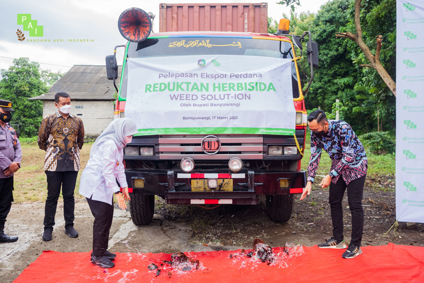 The First Export Release of Weed Solut-ion, a Herbicide Reductant Product of PT. Pandawa Agri Indonesia